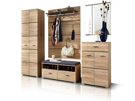 garderoben sets g nstig hochglanz wei holz landhausstil. Black Bedroom Furniture Sets. Home Design Ideas