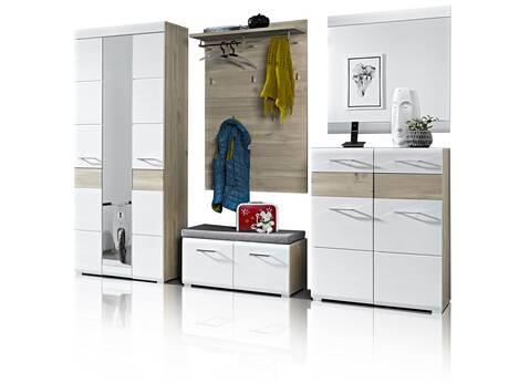 garderoben sets g nstig hochglanz wei holz landhausstil. Black Bedroom Furniture Sets. Home Design Ideas