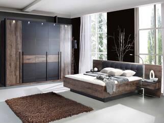 BERLIN Komplettschlafzimmer Schwarzeiche/Schlammeiche