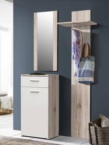 Garderobe GRETA Sandeiche/weiß
