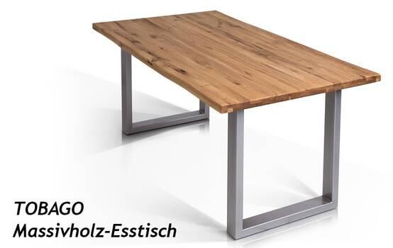 TOBAGO Massivholz-Esstisch
