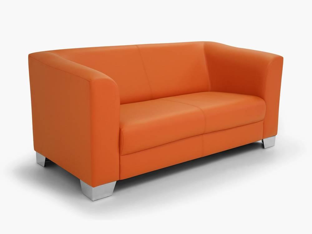 chicago sofa couch 2 sitzer orange kunstleder kunstledercouch 2 sitzer sofa ebay. Black Bedroom Furniture Sets. Home Design Ideas