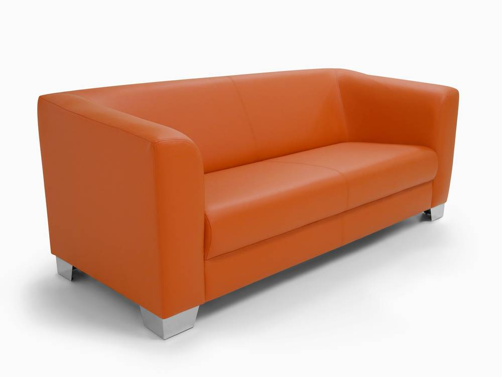 chicago sofa couch 3 sitzer orange kunstleder. Black Bedroom Furniture Sets. Home Design Ideas