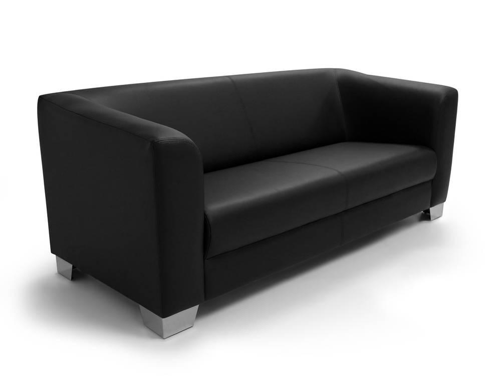 chicago 3er sofa peppige moderne hochwertige stabile couch l 185 cm in schwarz ebay. Black Bedroom Furniture Sets. Home Design Ideas