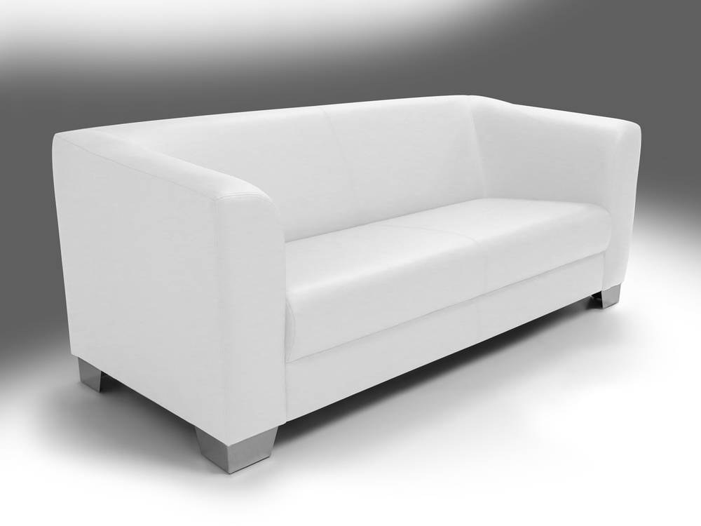 chicago sofa couch 3 sitzer wei weiss kunstleder kunstledercouch 3 sitzer sofa ebay. Black Bedroom Furniture Sets. Home Design Ideas