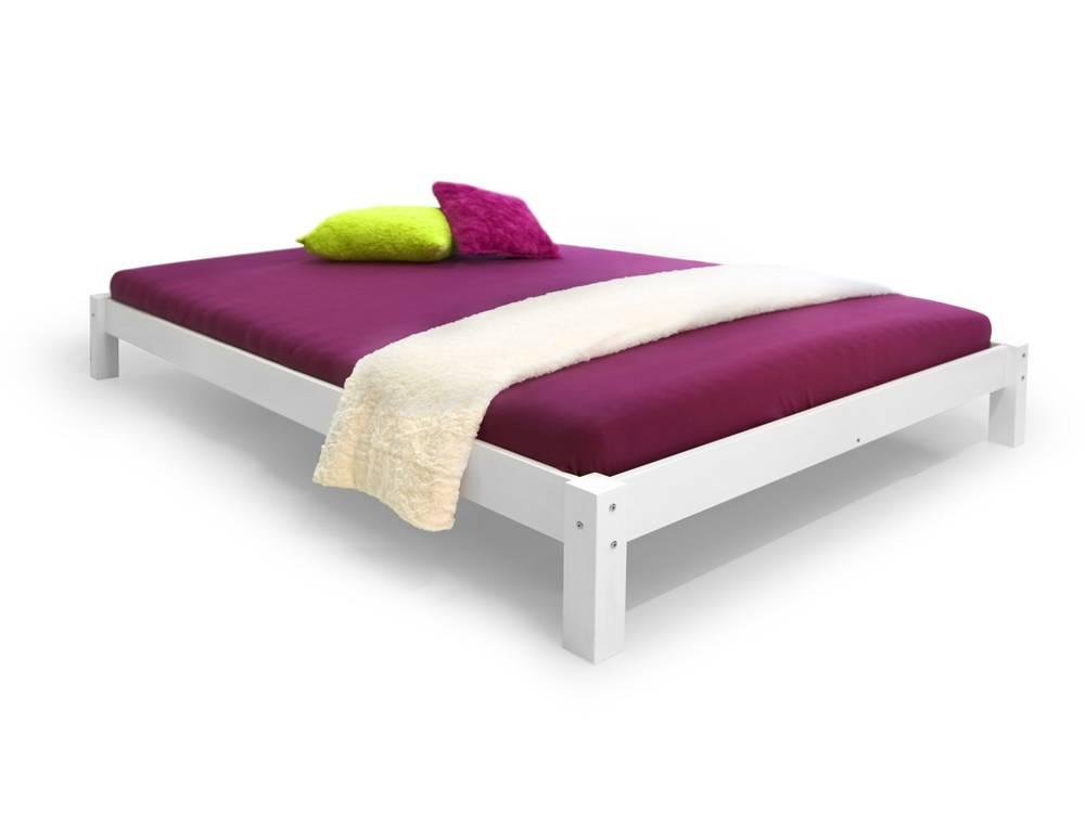 susa doppelbett massivholzbett holzbett bett schlafzimmer 180x200 kiefer weiss ebay. Black Bedroom Furniture Sets. Home Design Ideas