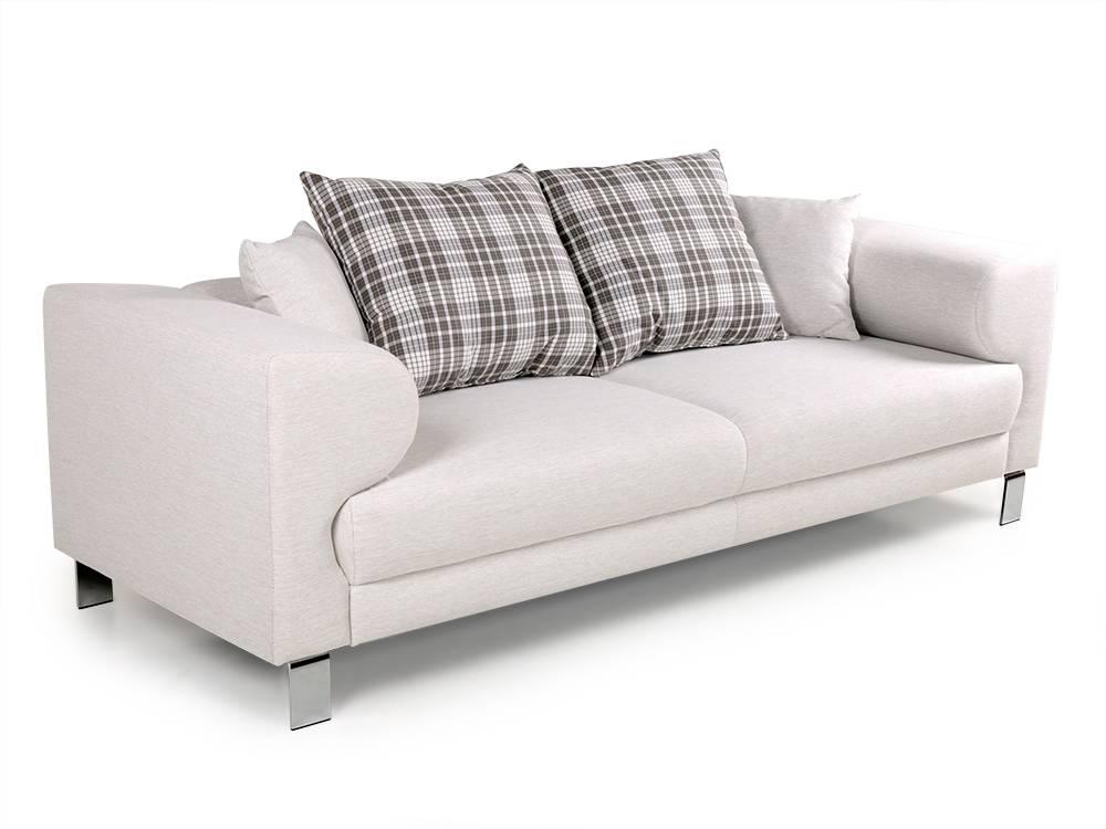 folke 3 sitzer sofa polstersofa hochwertige 2er couch inkl kissen in beige ebay. Black Bedroom Furniture Sets. Home Design Ideas