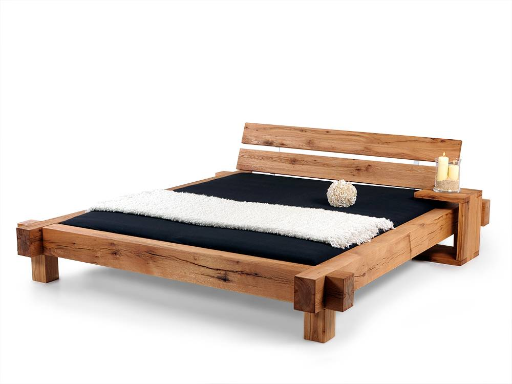 mammut doppelbett massivholzbett holzbett bett schlafzimmer 140x200 sumpfeiche ebay. Black Bedroom Furniture Sets. Home Design Ideas