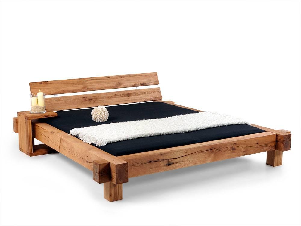 mammut doppelbett massivholzbett sumpfeiche ge lt 140 x 200 cm ge lt ohne kopfteil. Black Bedroom Furniture Sets. Home Design Ideas