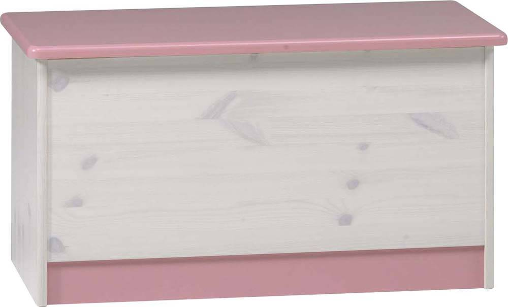 wendy betttruhe truhe spielzeugkiste f rs kinderzimmer jugendzimmer wei rosa. Black Bedroom Furniture Sets. Home Design Ideas