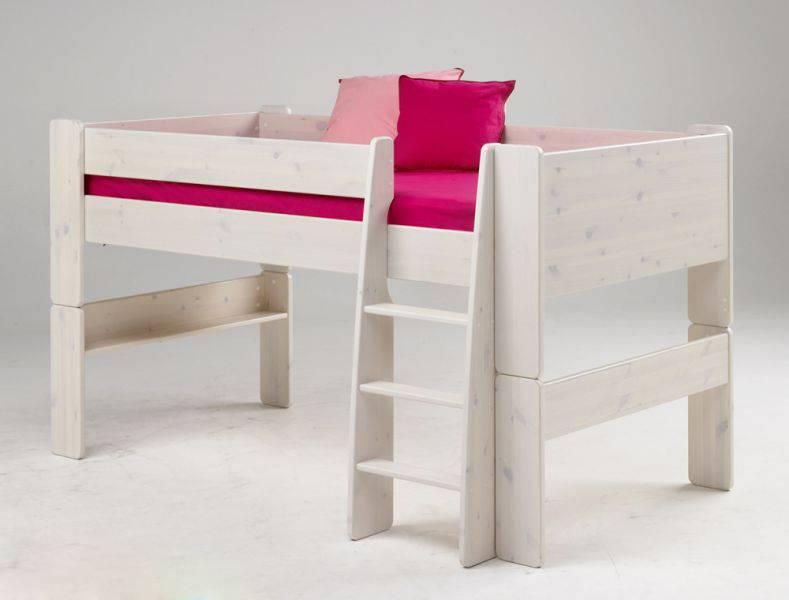 kinderbett halbhoch bett spielbett tunnel kiefer b90 ebay. Black Bedroom Furniture Sets. Home Design Ideas
