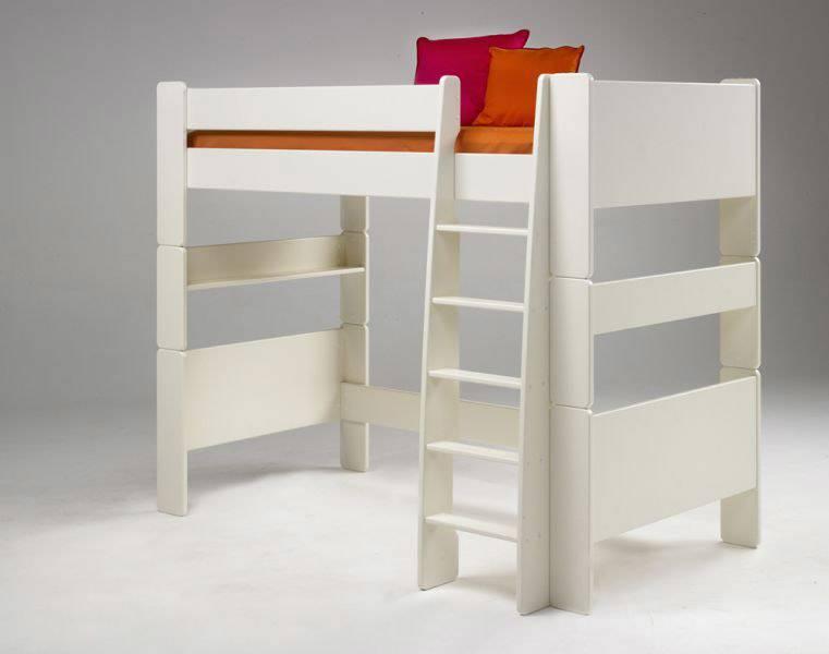 steens for kids hochbett kinderbett jugendbett bett kiefer massiv wei lackiert ebay. Black Bedroom Furniture Sets. Home Design Ideas