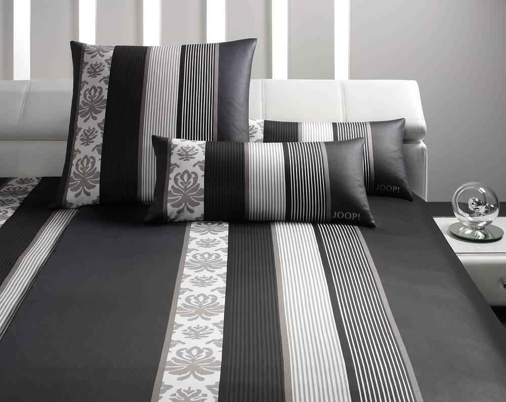 joop bettw sche bettbezug kissenbezug ornamente bett 155x220 80x80 schwarz ebay. Black Bedroom Furniture Sets. Home Design Ideas