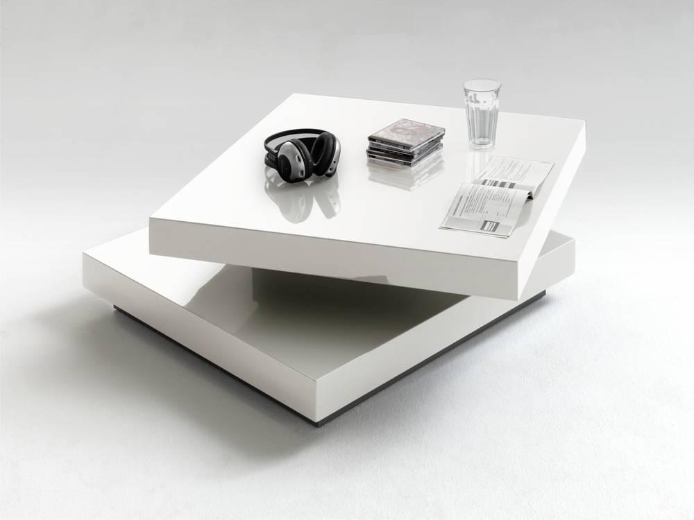 halo couchtisch hochglanz tisch modern wohnzimmer tisch drehbar lack wei ebay. Black Bedroom Furniture Sets. Home Design Ideas
