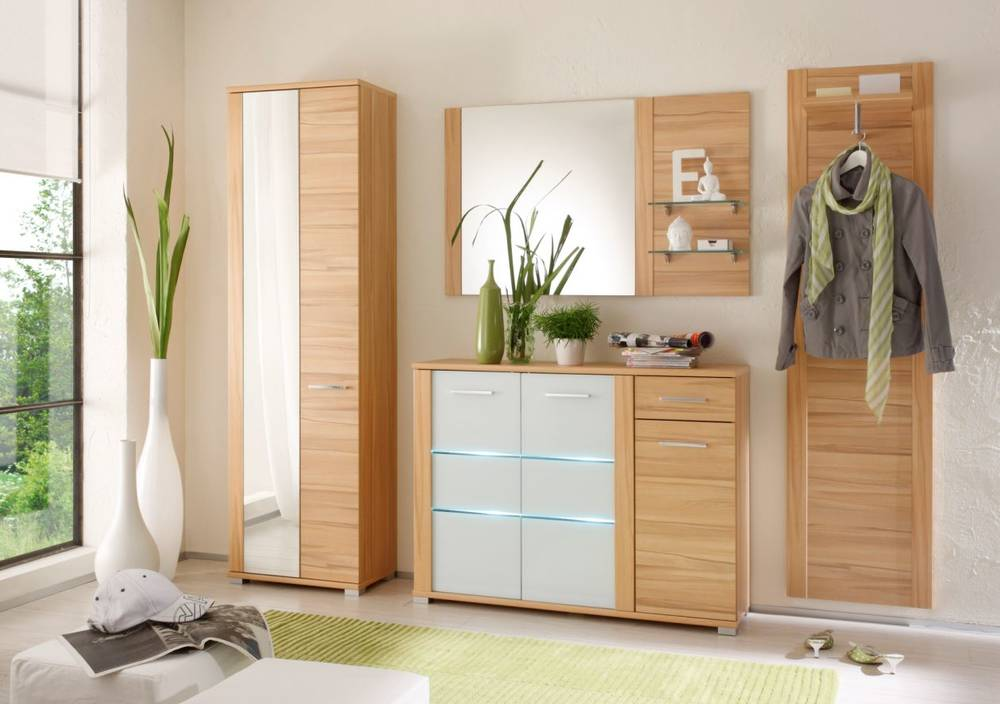 marika komplettgarderobe flur schrank garderoben set garderobe kernbuche ebay. Black Bedroom Furniture Sets. Home Design Ideas