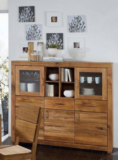 ancona i highboard hochwertige massivholz kommode viel. Black Bedroom Furniture Sets. Home Design Ideas
