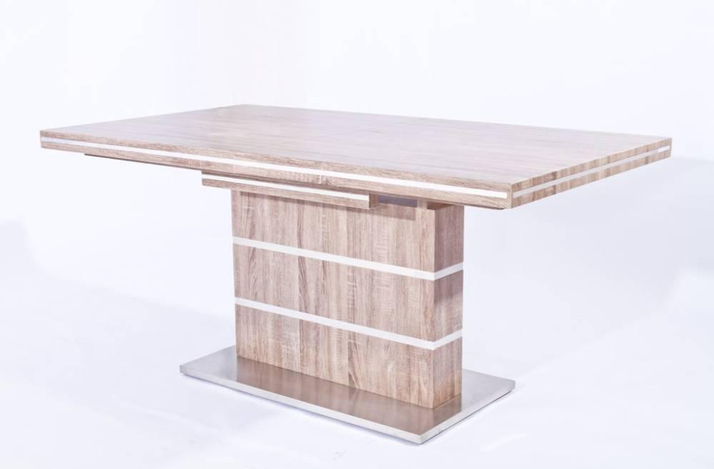 Isabell esstisch küchentisch tisch sonoma eiche weiß 160/220x95 cm ...