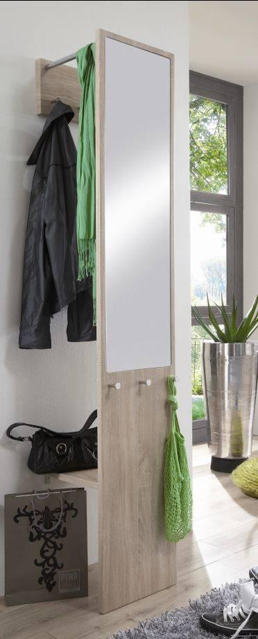 Denisa kompaktgarderobe garderobe mit spiegel versteckte for Eck garderobe wandgarderobe