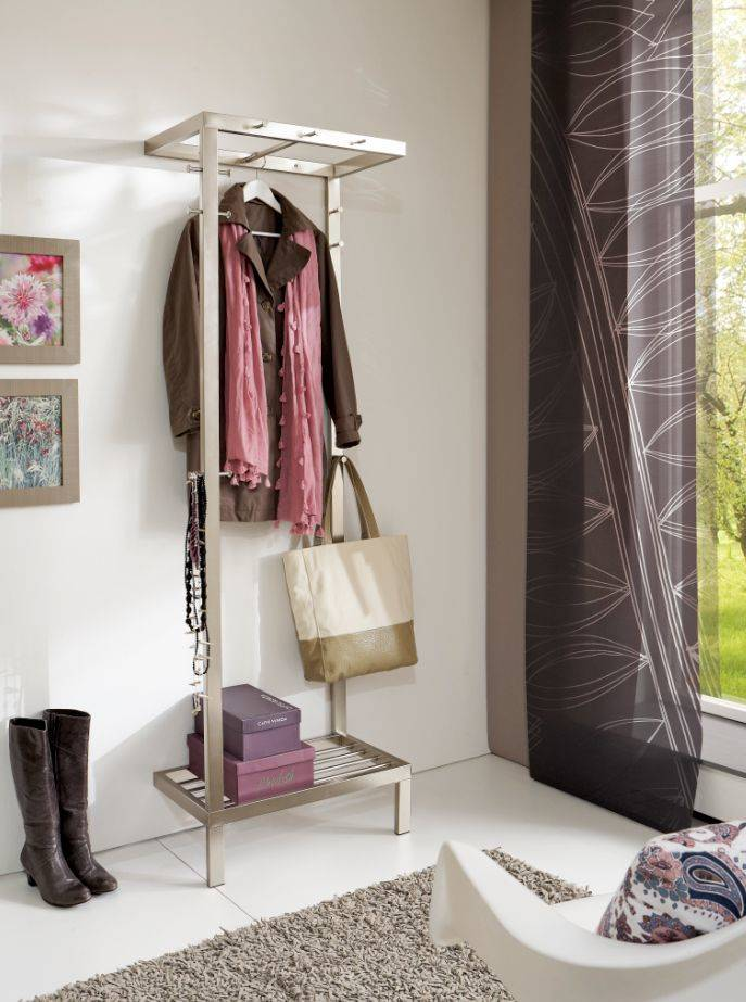 Fury garderobe edelstahl wandgarderobe dielenm bel flur garderobe diele - Flur dielenmobel ...