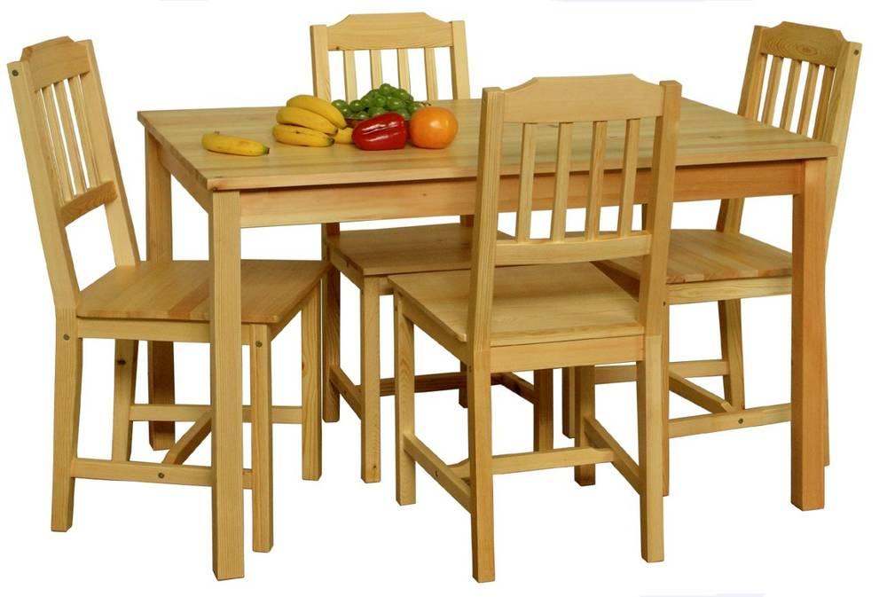 dining massivholz esstisch esstischgruppe dining set esszimmer tisch 118x75 cm ebay. Black Bedroom Furniture Sets. Home Design Ideas