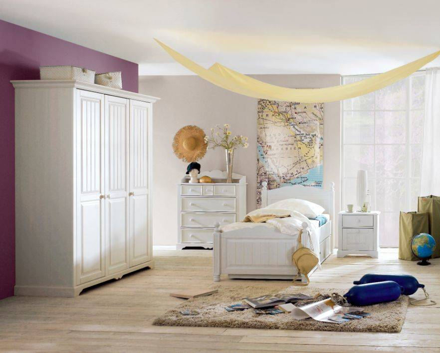 cinderella 3 teiliges komplett jugendzimmer kinderzimmer kiefer wei mit schrank ebay. Black Bedroom Furniture Sets. Home Design Ideas