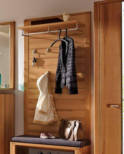 nestor plus garderobenpaneel kernbuche lackiert. Black Bedroom Furniture Sets. Home Design Ideas