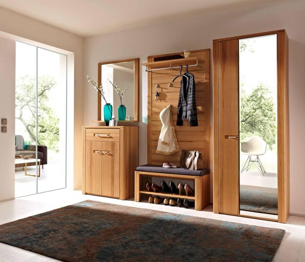 nestor plus komplett garderobe dielenm bel viel stauraum massivholz kernbuche ebay. Black Bedroom Furniture Sets. Home Design Ideas