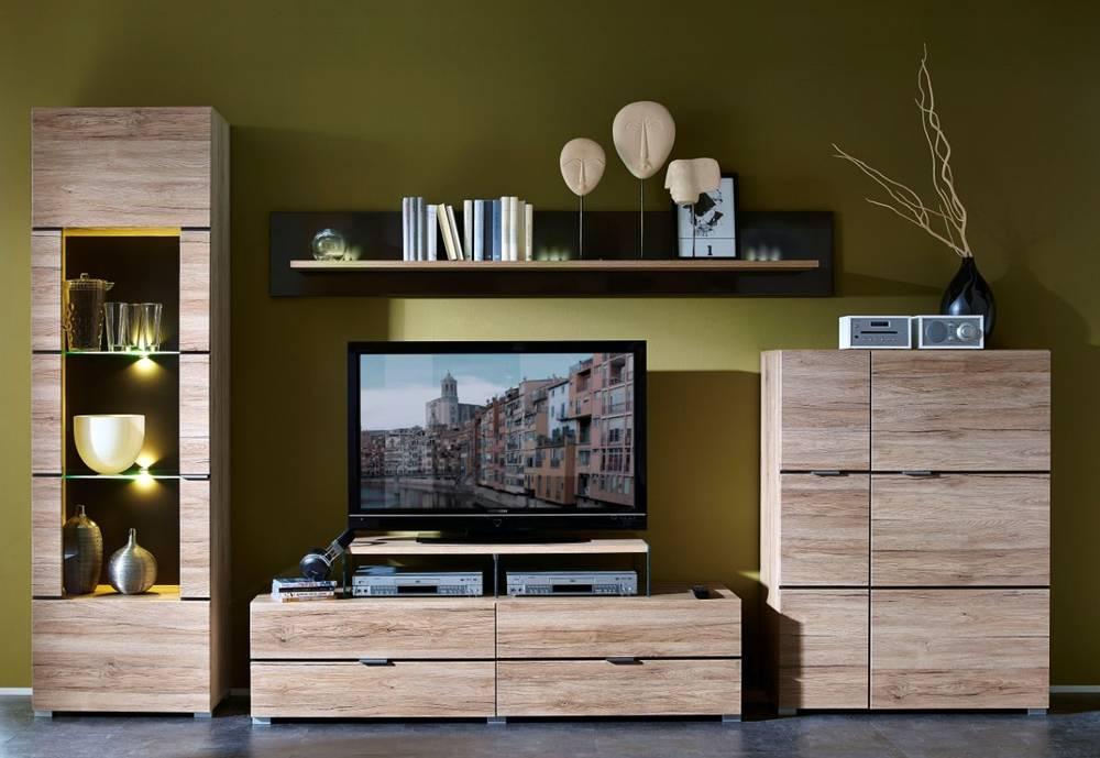 feodora wohnwand schrankwand wohnzimmer anbauwand. Black Bedroom Furniture Sets. Home Design Ideas