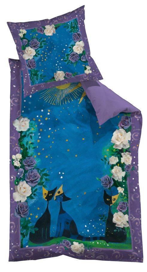 rosina wachtmeister bettw sche makobaumwolle 135x200 baumwolle roses rosen lila ebay. Black Bedroom Furniture Sets. Home Design Ideas