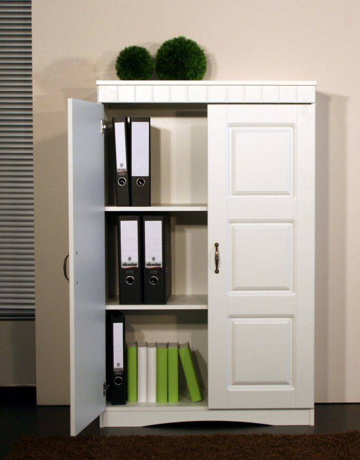 kommode aktenschrank antik b ro schrank vitrine regal mdf wei 2 t ren valbona ebay. Black Bedroom Furniture Sets. Home Design Ideas