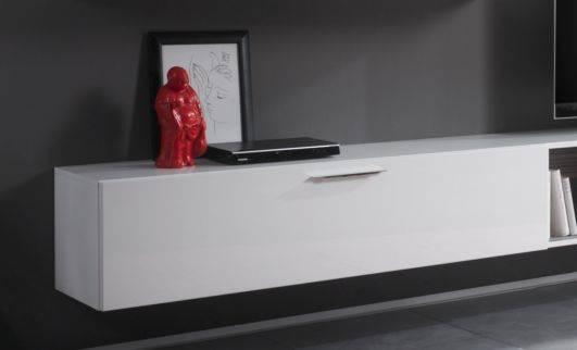 cariba h ngeelement i klein h ngeregal wandboard wandregal 140cm hochglanz wei ebay. Black Bedroom Furniture Sets. Home Design Ideas