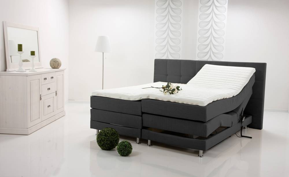 alessa boxspringbett doppelbett einzelbett elektrisch verstellbar 90 x 200 anthrazit. Black Bedroom Furniture Sets. Home Design Ideas