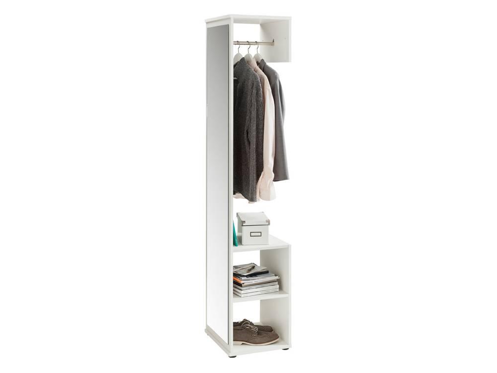 kompakt garderobe alf weiss. Black Bedroom Furniture Sets. Home Design Ideas