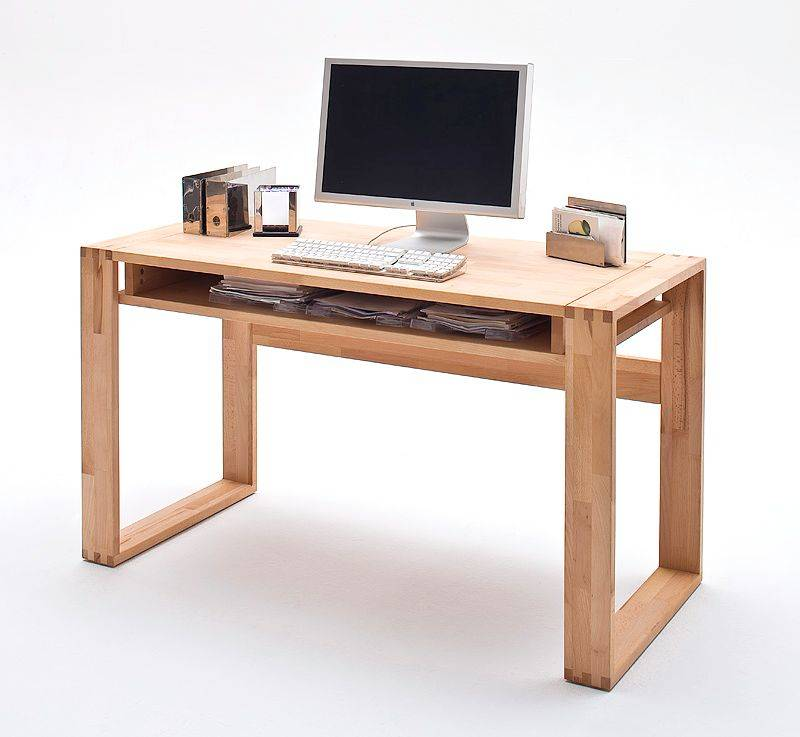 josy schreibtisch tisch mit ablage massivholz kernbuche. Black Bedroom Furniture Sets. Home Design Ideas