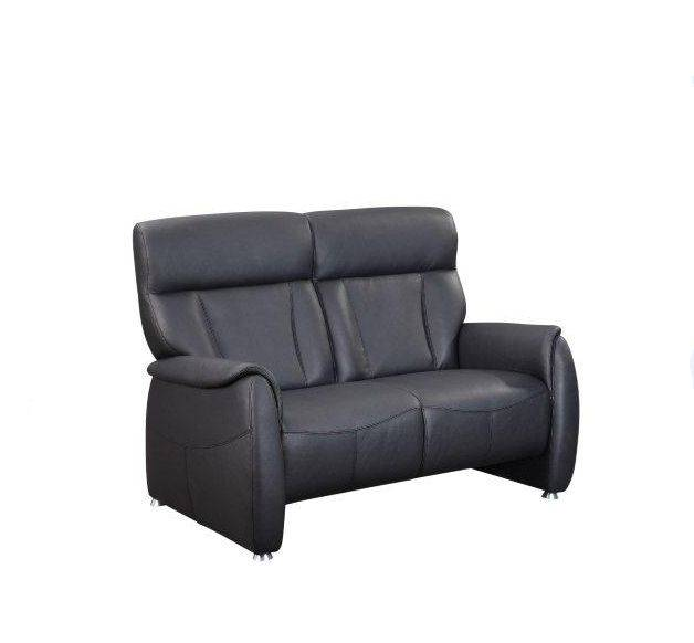 taavi 2 sitzer sofa polstersofa couch leder echtleder schwarz 5 relaxfunktionen ebay. Black Bedroom Furniture Sets. Home Design Ideas