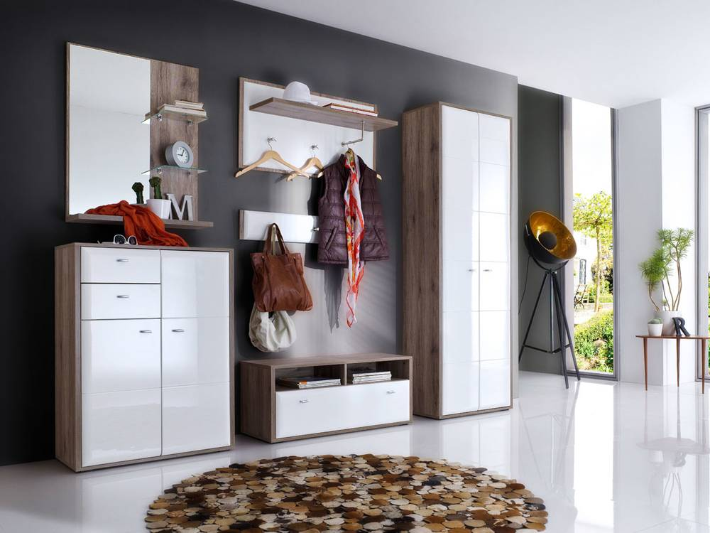 garderobenset camy ii sanremo eiche rustik eiche. Black Bedroom Furniture Sets. Home Design Ideas