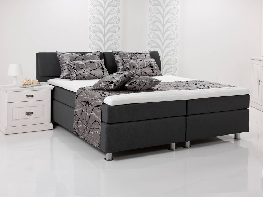 amy boxspring bett doppelbett einzelbett 140 x 200 rot h rtegrad 2. Black Bedroom Furniture Sets. Home Design Ideas