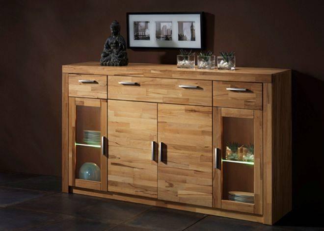 simona highboard anrichte kernbuche. Black Bedroom Furniture Sets. Home Design Ideas