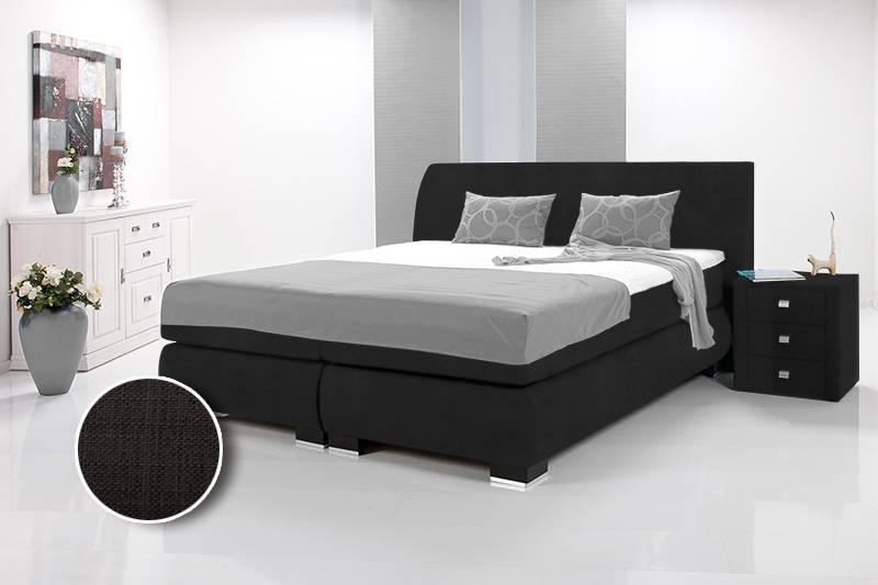 luxus boxspringbett mit 1000 federn hotelbett bett kunstleder webstoff 90x200cm ebay. Black Bedroom Furniture Sets. Home Design Ideas