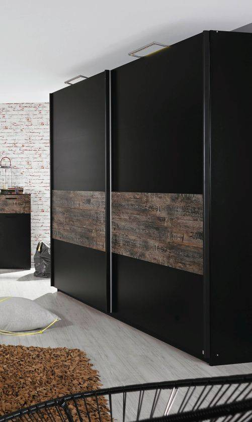 stardust schwebet renschrank schwarz vintage 181 cm ohne spiegel. Black Bedroom Furniture Sets. Home Design Ideas