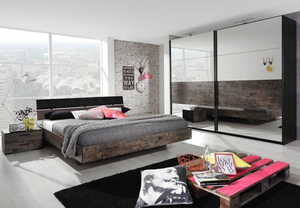 stardust komplett schlafzimmer 180 schrank spiegel. Black Bedroom Furniture Sets. Home Design Ideas
