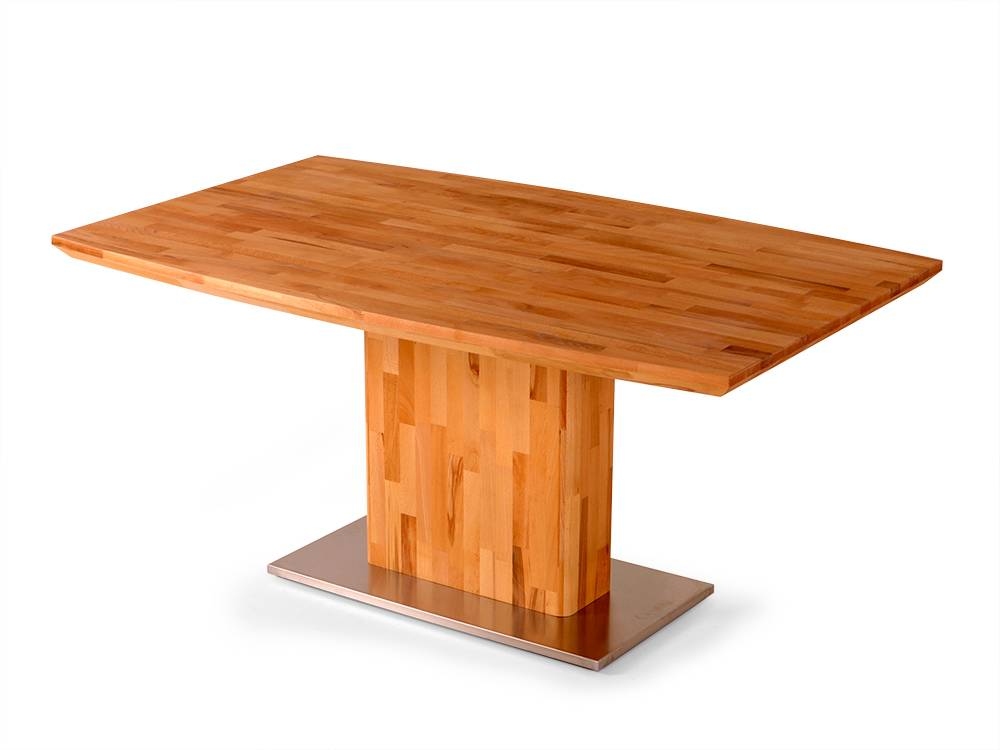 arko massivholz esstisch kernbuche massiv hochweriger s ulentisch 100x160 cm ebay. Black Bedroom Furniture Sets. Home Design Ideas