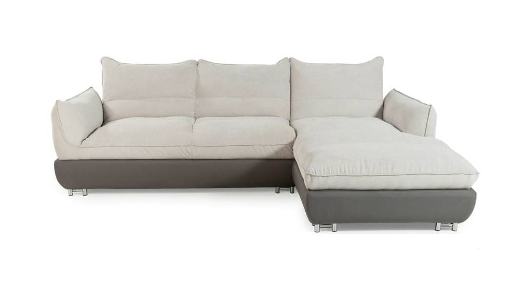 miranda grau natur ecksofa ecksofa couch sofa polsterecke ottomane rechts ebay. Black Bedroom Furniture Sets. Home Design Ideas
