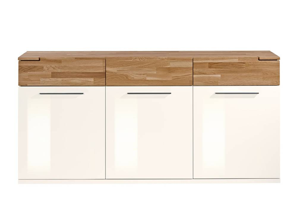 arte m feel sideboard mit 3 t ren weiss eiche. Black Bedroom Furniture Sets. Home Design Ideas