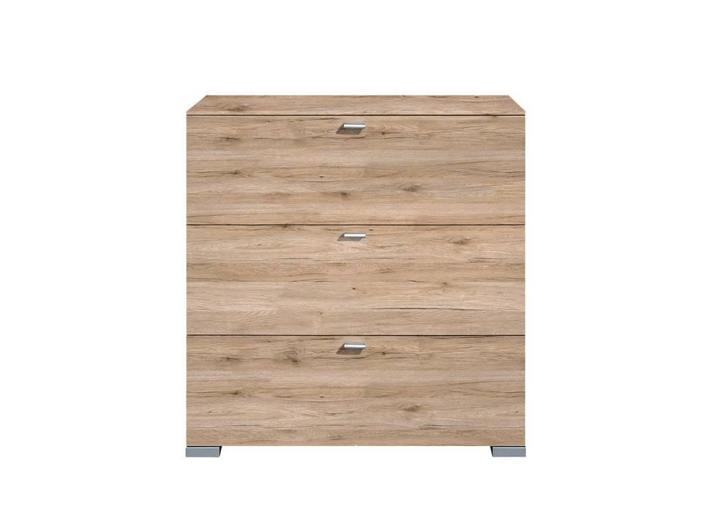 arte m gallery hochkommode mit 3 schubk sten eiche sand. Black Bedroom Furniture Sets. Home Design Ideas