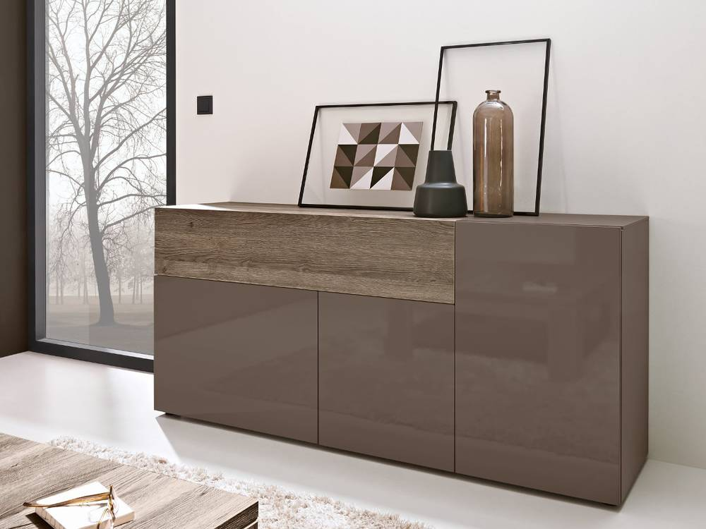 arte m beam w sideboard i weiss eiche dunkel. Black Bedroom Furniture Sets. Home Design Ideas