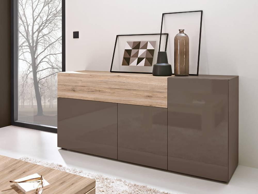 arte m beam w sideboard i kommode schrank wohnzimmer cubanit eiche sand ebay. Black Bedroom Furniture Sets. Home Design Ideas