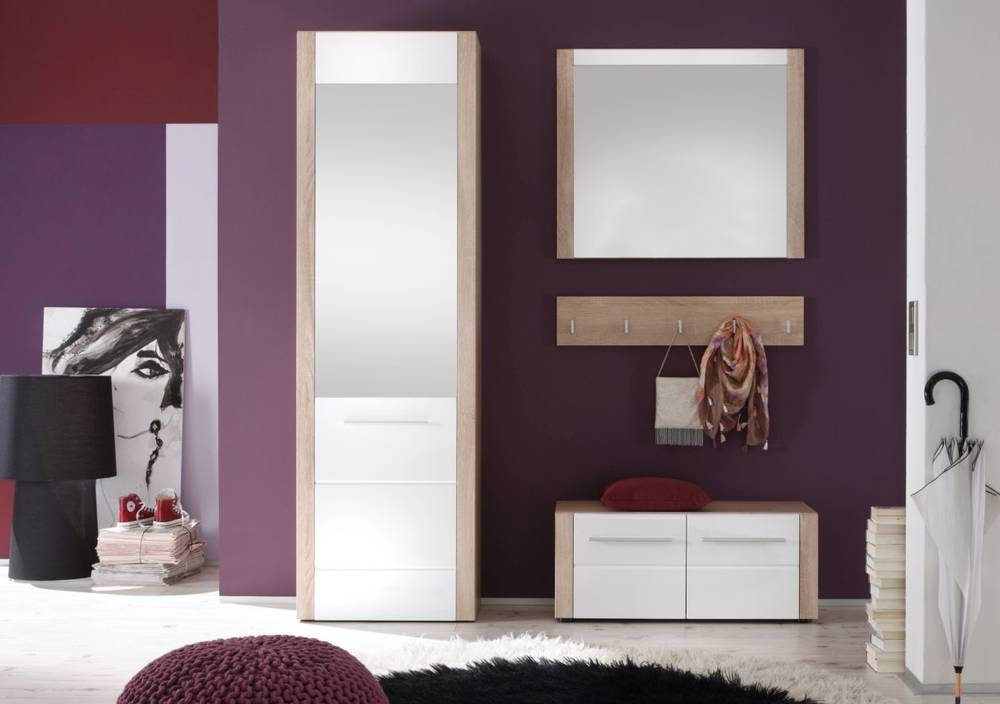 tario garderobenkombination iii 4 teilige garderobe eiche. Black Bedroom Furniture Sets. Home Design Ideas