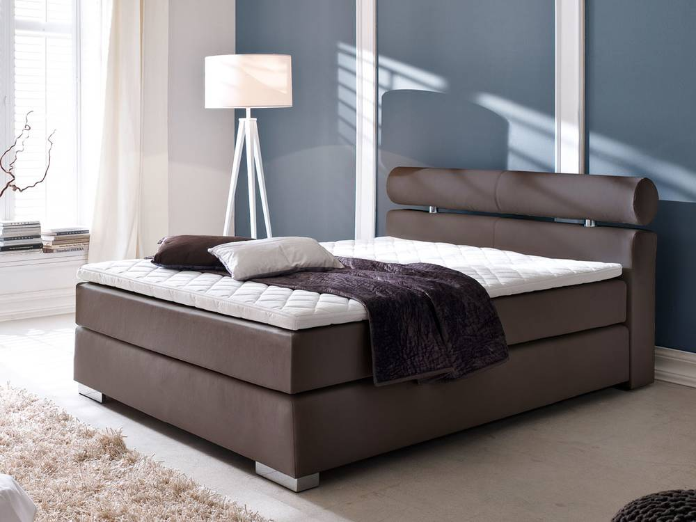 adam boxspringbett kunstleder 120 x 200 cm h rtegrad 2. Black Bedroom Furniture Sets. Home Design Ideas