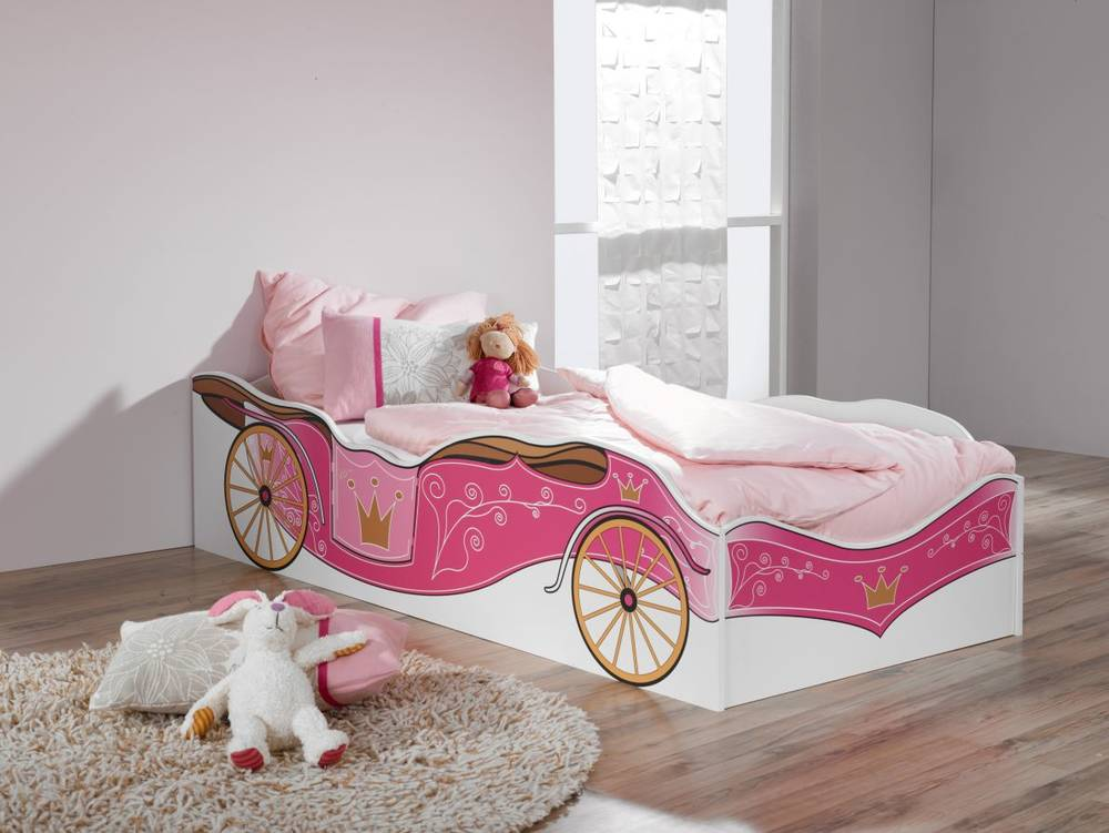 kitty bett kinderbett prinzessin wei rosa f rs. Black Bedroom Furniture Sets. Home Design Ideas
